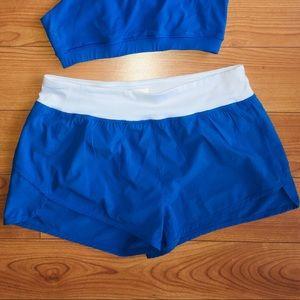 🔵3/$14! F21 Sport Shorts, Blue & White